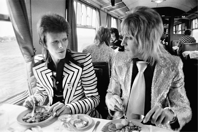 , 'Bowie Ronson Lunch on Train to Aberdeen,' 1973, TASCHEN