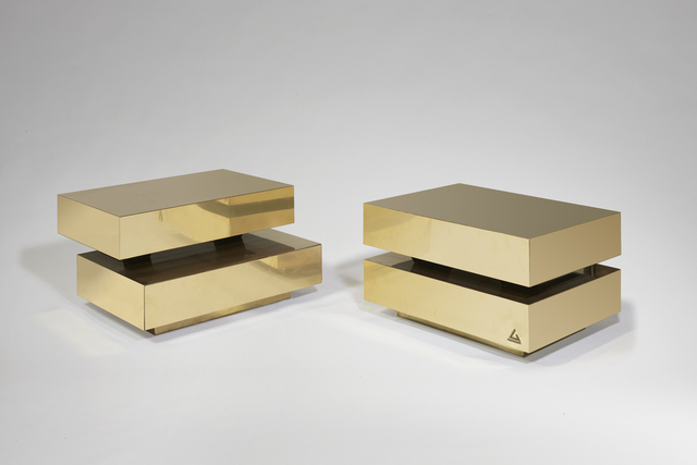 ", 'Pair of ""Scultura"" coffee tables,' 1970, Galerie Chastel-Maréchal"