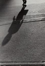 Untitled (shadows, woman with handbag)