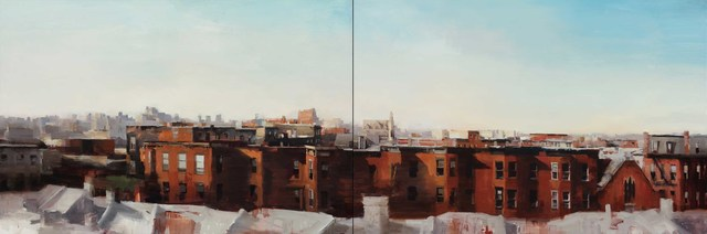 , 'Brooklyn Summertime (Diptych),' 2016, Gallery Henoch