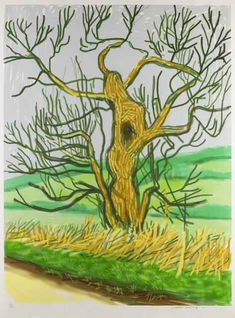 David Hockney, 'The Arrival of Spring in Woldgate, East Yorkshire in 2011 (Twenty-Eleven) - 22 March 2011', 2011, Forum Auctions