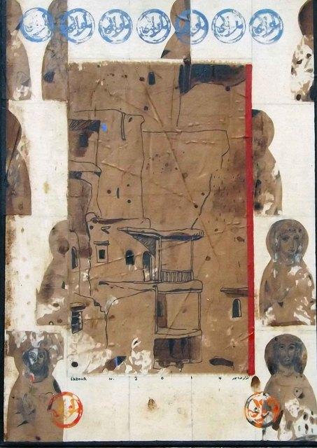 Nizar Sabour, 'MAALOULA AND THE SAINTS', 2014, Painting, MIXED MEDIA ON CANVAS, Mark Hachem Gallery