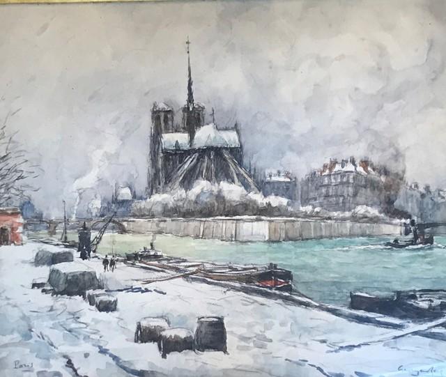 Georges Rose, 'Notre dame sous la neige', DIGARD AUCTION