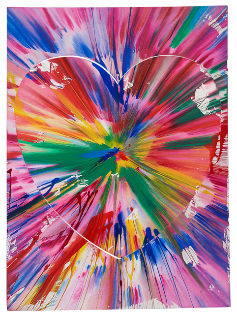 Damien Hirst, 'Heart Spin Painting (two parts) (Created at Damien Hirst Spin Workshop)', 2009, Rago