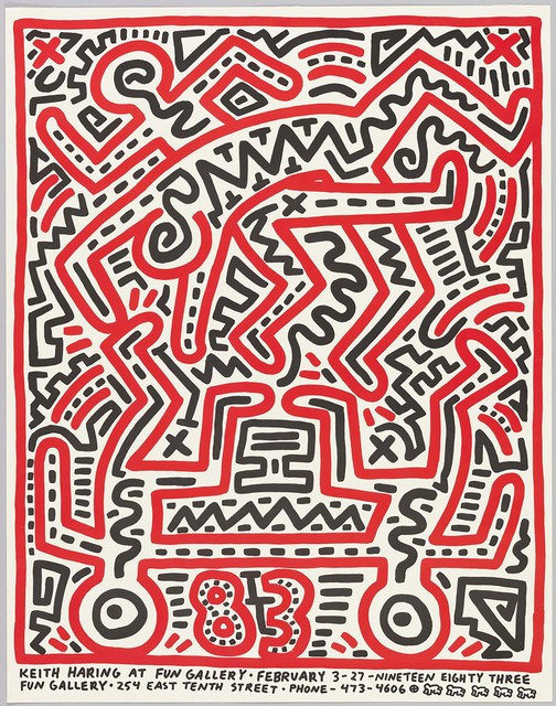Keith Haring, 'Fun Gallery poster', 1983, Gallery 52