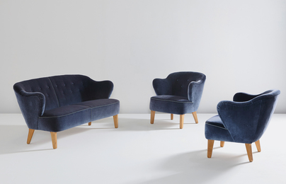 Flemming Lassen, 'Sofa and pair of armchairs,' ca. 1940, Phillips: Design