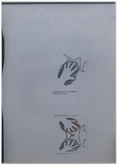 , ''BOUGÉ silver #1' -série 'Paleolithic hand. About 15,000 B.C., Pech-Merle, France,' 2016, Galerie nächst St. Stephan Rosemarie Schwarzwälder