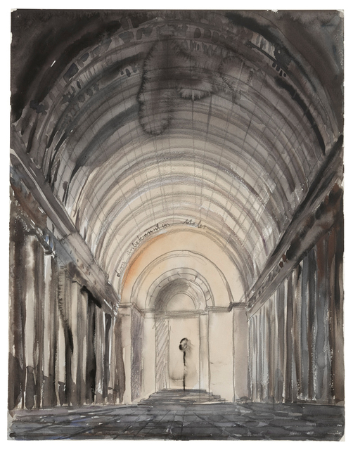 Anselm Kiefer, 'Untitled (Dem Unbekannten Maler)', ca. 1982, Drawing, Collage or other Work on Paper, Watercolor and graphite on paper, Sotheby's: Contemporary Art Day Auction