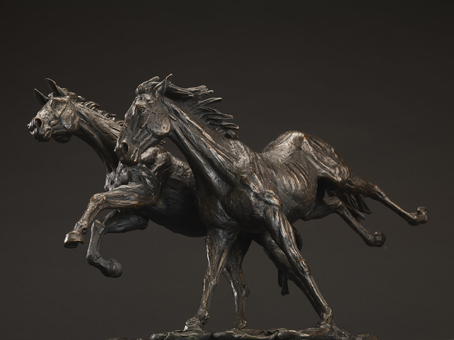 , 'Goodman's Two Horses Running Together,' 2014, Candida Stevens Gallery