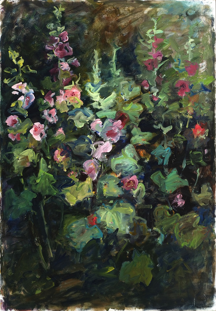 Mary Page Evans, 'Mid Summer Hollyhocks', 2003, Somerville Manning Gallery