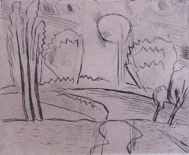 , 'Landscape with Sun I Landschaft mit Sonne,' 1915, Gilden's Art Gallery