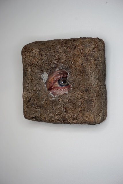 Kit King, 'Untitled ', 2020, Painting, Oil on linen panel with patinaed cement incasement frame, Abend Gallery