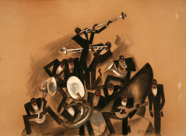 , '11 Piece Black Jazz Band - Painting / Maquette ,' 1925, Omnibus Gallery