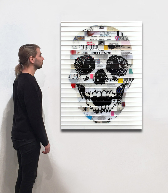 James Verbicky, 'Cranes Son Ten 11', 2017, Mixed Media, Mixed Media Collage/Resin on Wood, Jennifer Kostuik Gallery