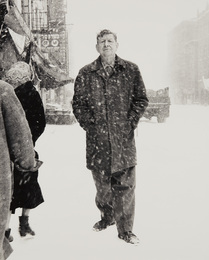 W. H. Auden, poet, St. Marks Place, New York City, March 3, 1960