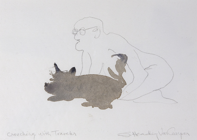 , 'Crouching with Traveler,' , Dowling Walsh