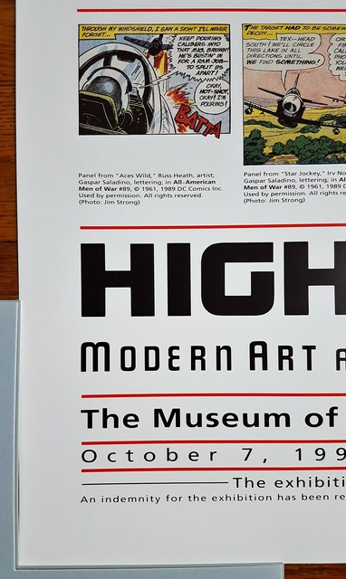 Roy Lichtenstein, 'High & Low. Modern Art and Popular Culture', 1990, Print, Offset-Lithograph, Exhibition Poster, Graves International Art