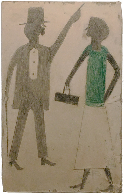 , 'Man Pointing, Woman in Green,' about 1939-42, Hirschl & Adler