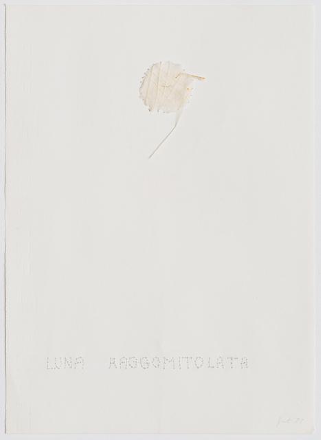 Elisabetta Gut, 'Luna Raggomitolata', 1977, Repetto Gallery