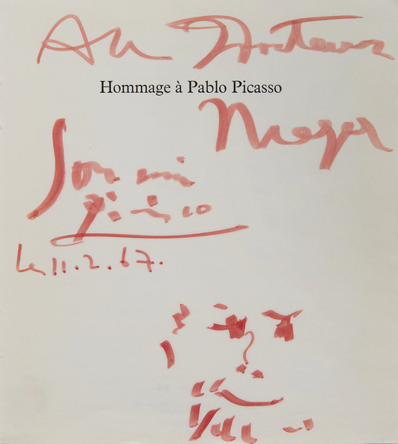Pablo Picasso, 'Hommage à Pablo Picasso', 1967, HELENE BAILLY GALLERY