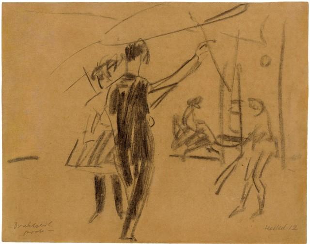 Erich Heckel, 'Drahtseilprobe', 1912, Ludorff