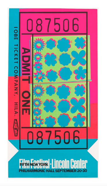 , 'Lincoln Center Ticket,' 1967, Somerville Manning Gallery