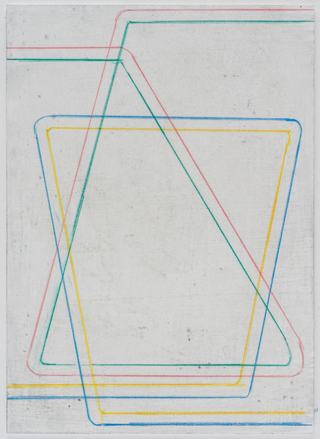Pius Fox, 'Zwei mit demselben Ziel', 2020, Painting, Pencil and egg tempera on paper, Bode Projects