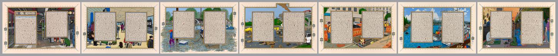 Sandow Birk, 'American Qur'an: Sura 7 A-G, Suite of 7,' 2013, Koplin Del Rio