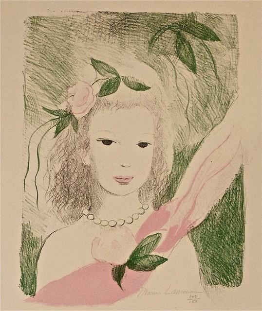 Marie Laurencin, 'Fillette à La Rose', 1955, Wallector