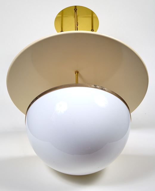 'Hans Agne Jakobsson Brass and Glass Hanging Light', 1960s, Doyle