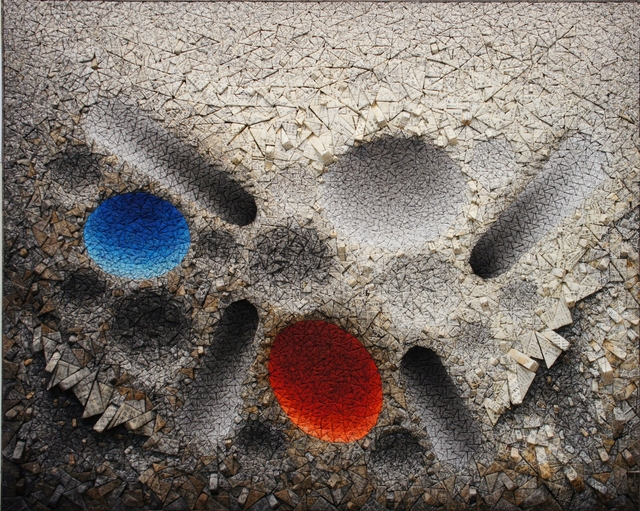 , 'Aggregation 12 - MY020 Blue & Red,' 2012, Sundaram Tagore Gallery