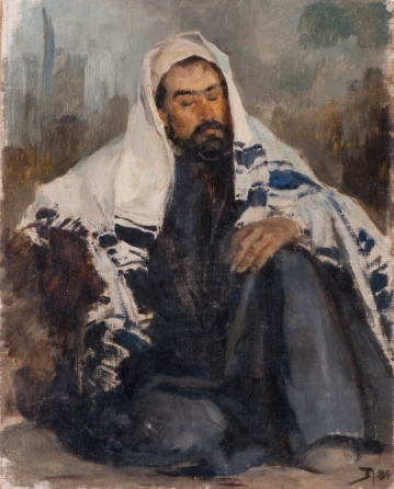 , 'Portrait of Isaac Levitan in Oriental Constume,' 1884, Vassily Polenov Fine Arts Museum and National Park