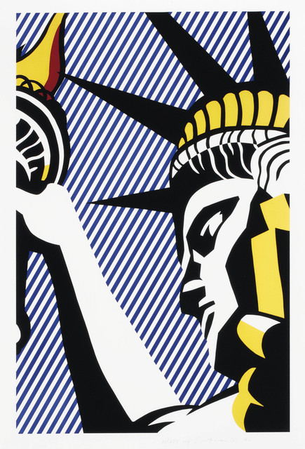 Roy Lichtenstein, 'I Love Liberty', 1982, Print, Screenprint in colors on Arches 88 paper, OSME Fine Art