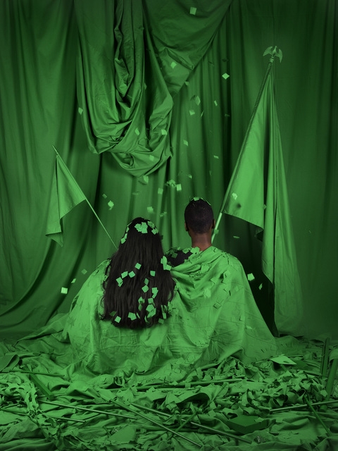 , 'Chromakey Aftermath (Standard Bearers),' 2019, Catharine Clark Gallery
