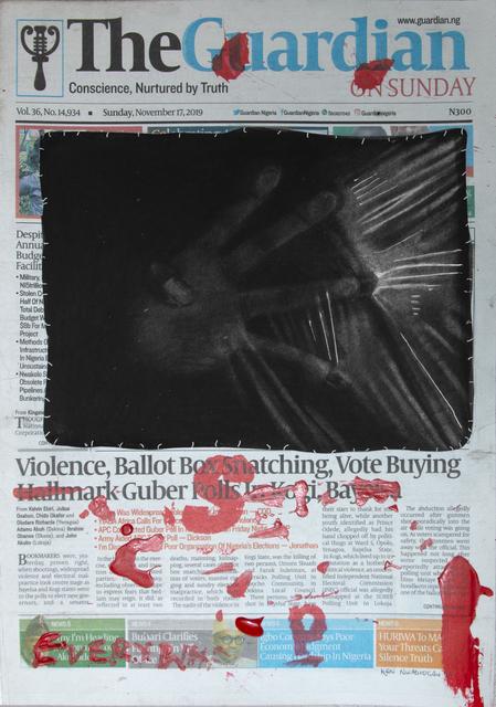 Ken Nwadiogbu, 'Headline Series (no. 7)', 2019, Marcel Katz Art