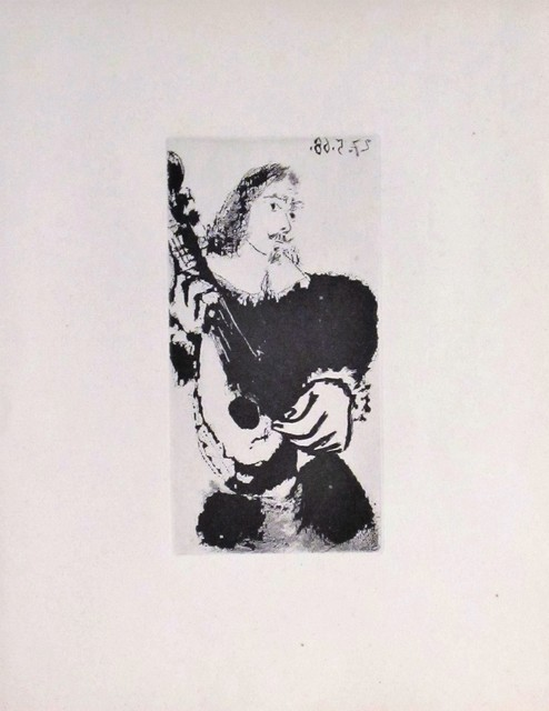 Pablo Picasso, 'La Serenade', 1968, Print, Original sugarlift aquatint , michael lisi / contemporary art