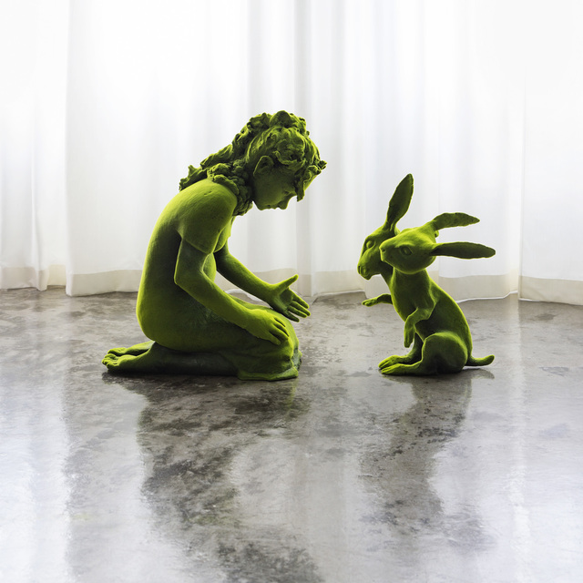, 'Two Headed Moss Bunny and Moss Girl,' 2015, Jason Jacques Gallery