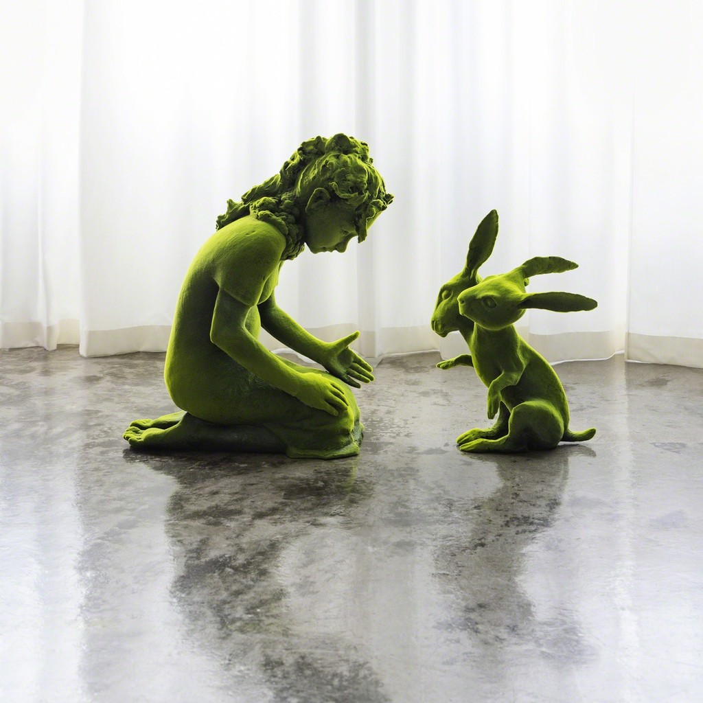 Two Headed Moss Bunny and Moss Girl