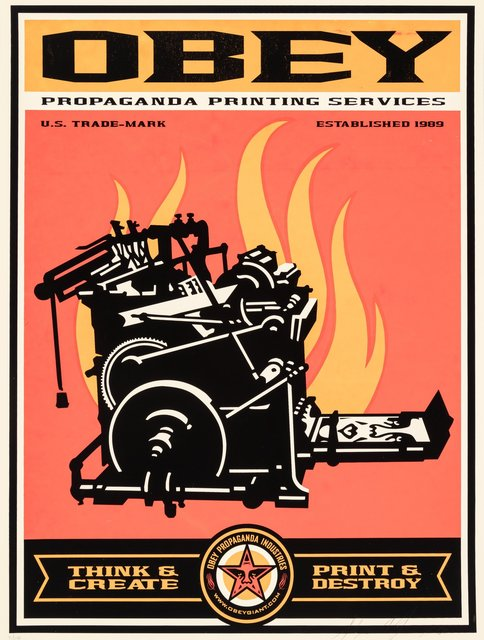 Shepard Fairey, 'Print and Destroy', 2000, Heritage Auctions