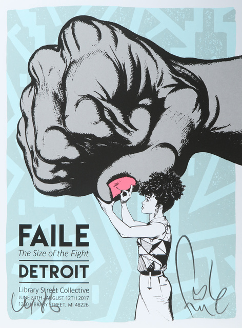 FAILE, 'Size Of The Fight Show Print', 2017, Chiswick Auctions