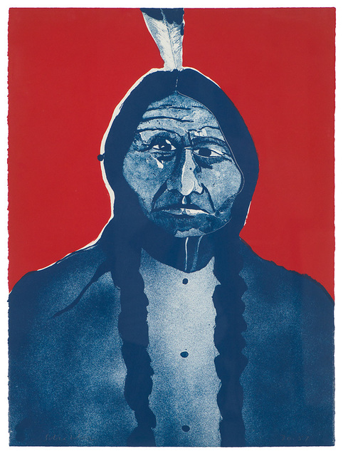 Fritz Scholder, 'Portrait of an American #2 (First State)', 1973, Larsen Gallery