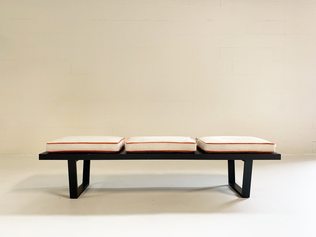 George Nelson, 'Platform Bench with Cowhide Cushions', Late 20th century, Forsyth