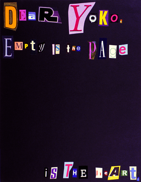 , 'Dear Yoko,' 2003, Jessica Silverman Gallery