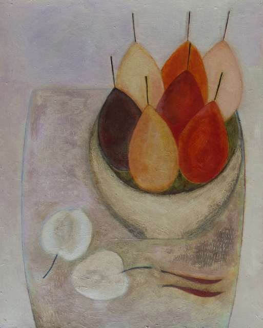 , 'Pears, Apple and Chillies,' 2018, Lime Tree Gallery