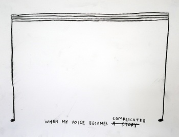 , 'When My Voice Becomes Complicated,' 2015, Carroll / Fletcher