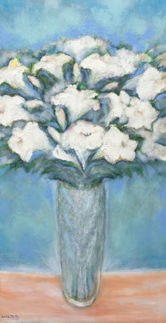 , 'White Lilies in Autumn,' 2015, Michael Ku Gallery