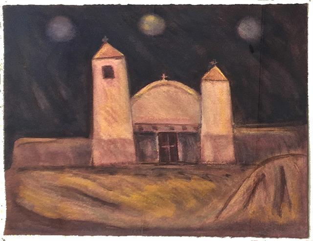 Lawrence Calcagno, 'Taos Church', 1979, 203 Fine Art