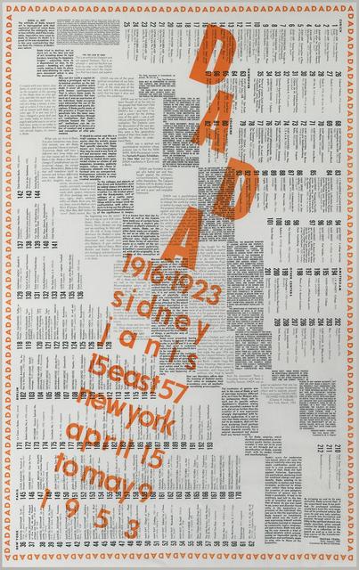 , 'Dada: 1916-1923,' 1953, Moeller Fine Art