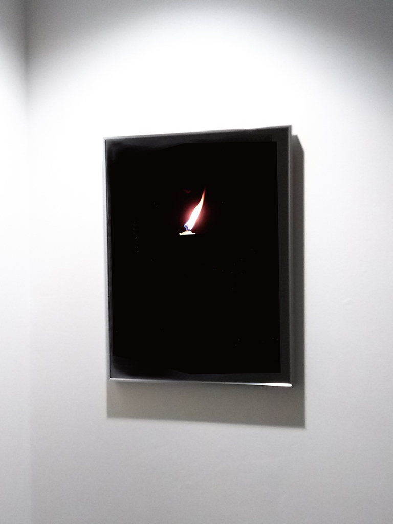 Candle in the Wind / stainless frame