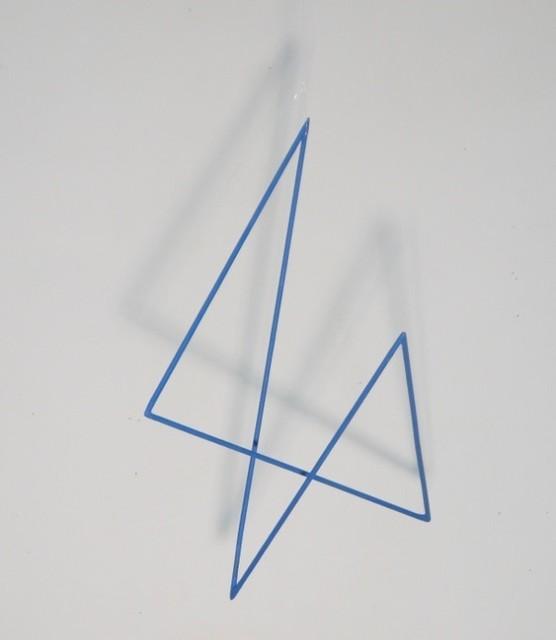 , 'Trait 31 bleu,' 2012, Galerie Marie-Robin